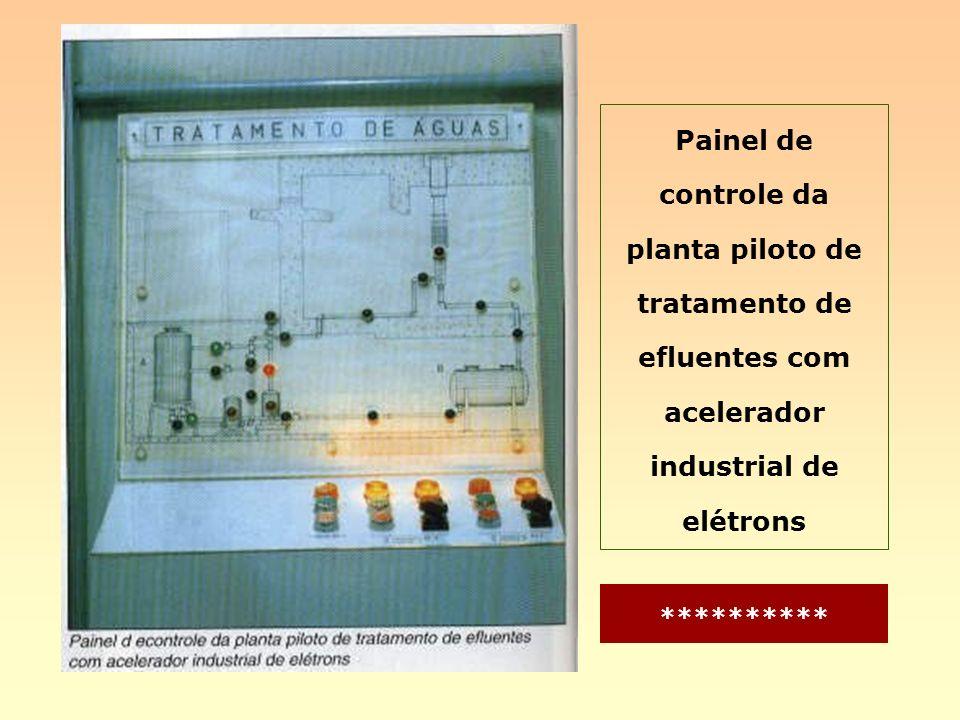 Painel de controle da planta piloto de tratamento de efluentes com acelerador industrial de elétrons **********