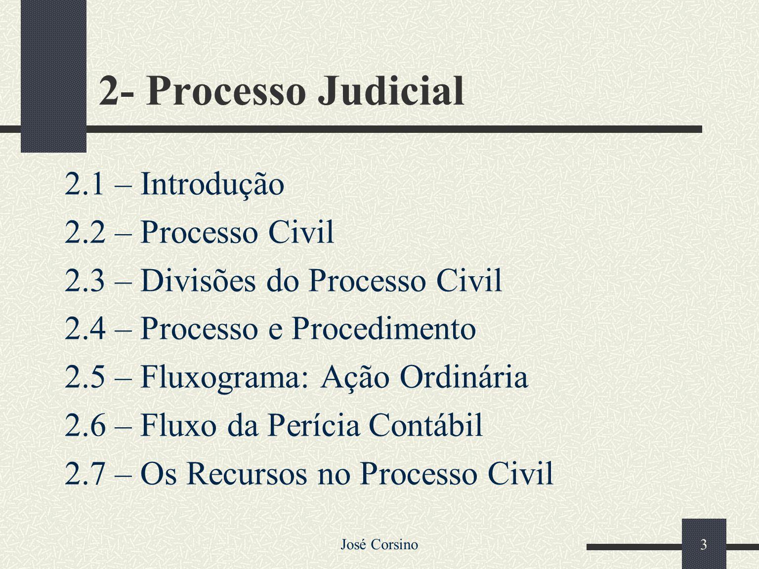 José Corsino 2 1- Organização do Judiciário 1.1 – Introdução 1.2 – A Constituição Federal e o Judiciário 1.3 – Judiciário 1.4 – Poder Judiciário Estad