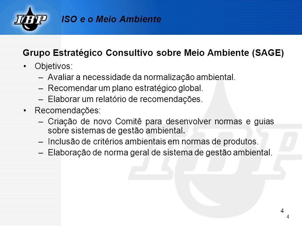 55 4.6 Análise pela Administração As entradas para análise pela administração devem incluir a) resultados das auditorias internas e das avaliações do atendimento aos requisitos legais e outros subscritos pela organização, b) comunicação(ões) proveniente(s) de partes interessadas externas, incluindo reclamações, c) o desempenho ambiental da organização, d) extensão na qual foram atendidos os objetivos e metas, NBR ISO 14001:2004
