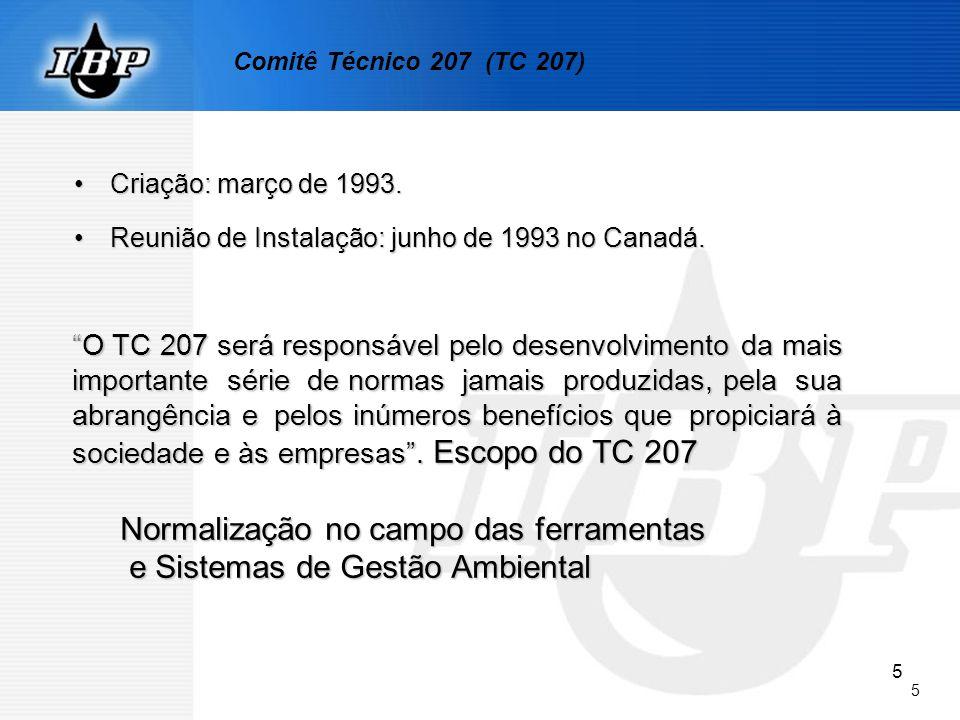 5 5 Criação: março de 1993.Criação: março de 1993. Reunião de Instalação: junho de 1993 no Canadá.Reunião de Instalação: junho de 1993 no Canadá. O TC