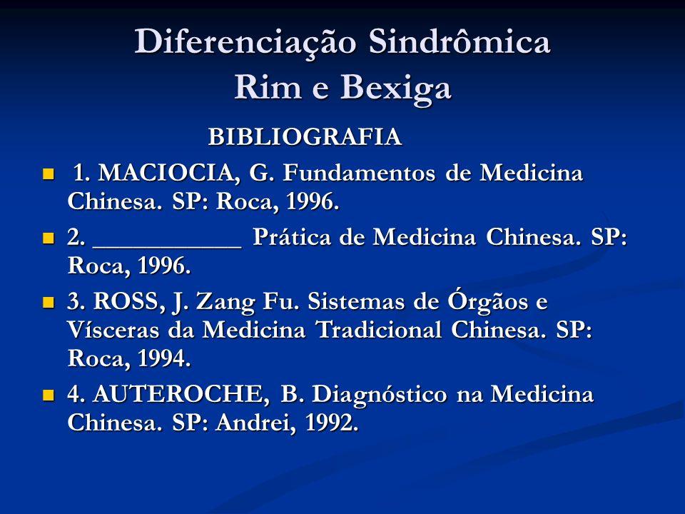 Diferenciação Sindrômica Rim e Bexiga BIBLIOGRAFIA BIBLIOGRAFIA 1.