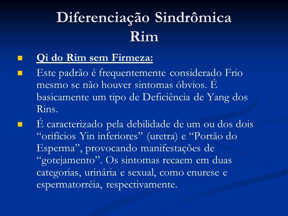 Diferenciação Sindrômica Rim Qi do Rim sem Firmeza: Este padrão é frequentemente considerado Frio mesmo se não houver sintomas óbvios.