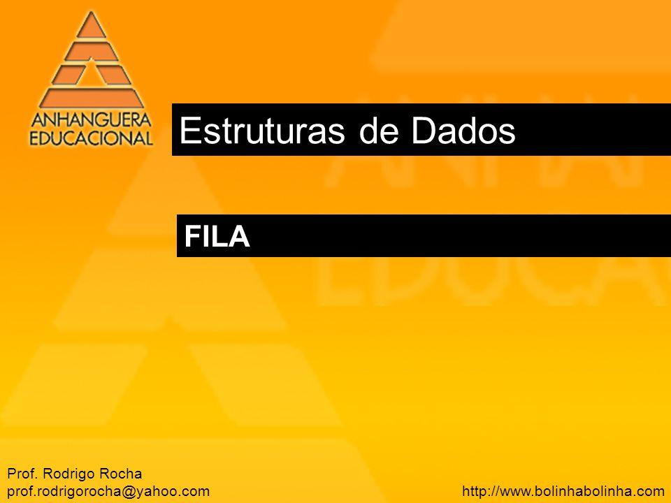 Estruturas de Dados FILA Prof. Rodrigo Rocha prof.rodrigorocha@yahoo.com http://www.bolinhabolinha.com