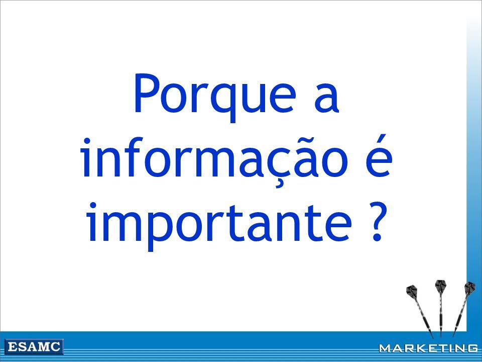 Porque a informação é importante ?