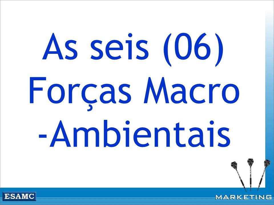 As seis (06) Forças Macro -Ambientais