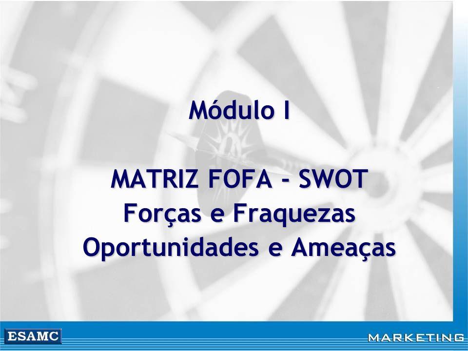 Módulo I MATRIZ FOFA - SWOT Forças e Fraquezas Oportunidades e Ameaças