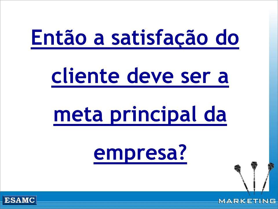 Então a satisfação do cliente deve ser a meta principal da empresa?