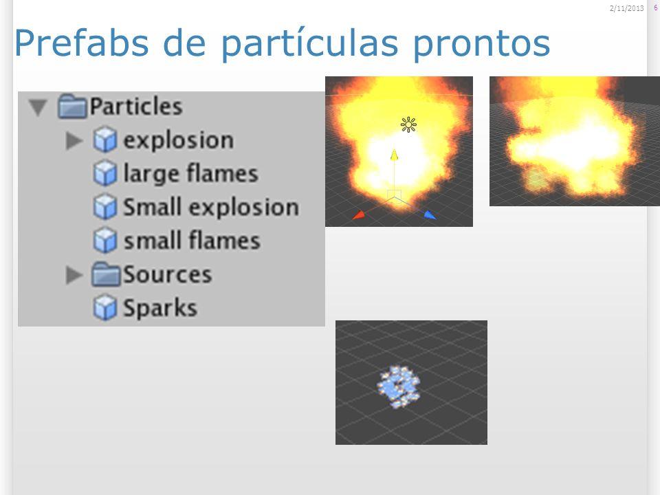 Particle Emitter Emissor de Partículas Local que as partículas são emitidas; Tipos: Ellipsoid Particle Emitter: geração em área de uma esfera (elipsóide, na verdade...); Mesh Particle Emitter: geração em área de uma mesh (malha).