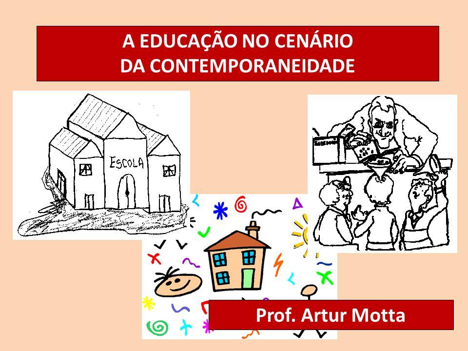 A EDUCAÇÃO NO CENÁRIO DA CONTEMPORANEIDADE Prof. Artur Motta
