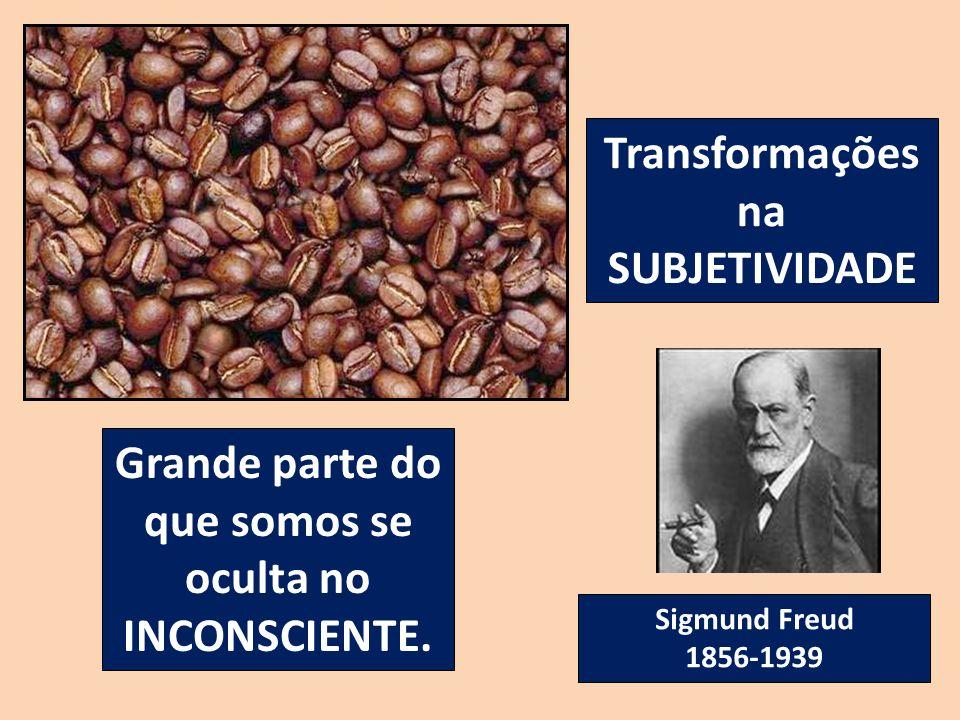 Transformações na SUBJETIVIDADE Grande parte do que somos se oculta no INCONSCIENTE. Sigmund Freud 1856-1939