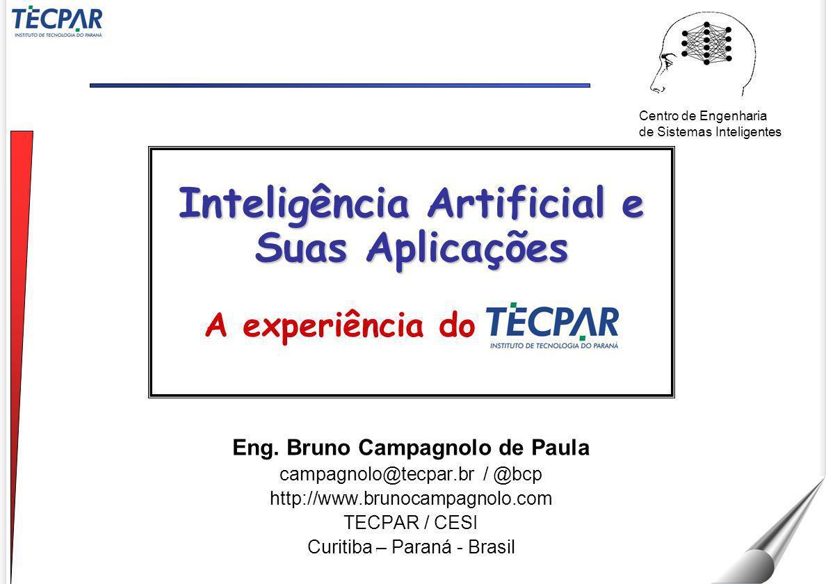 campagnolo@tecpar.br 22 / Agosto / 2011 VIII SEMINFO Computação convencional Inteligência Artificial numéricasimbólica proceduraldeclarativa algorítmicaheurística Diferenças da Computação Convencional 12