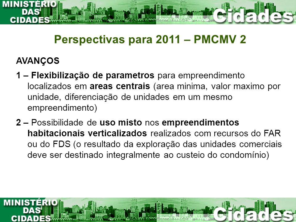 AVANÇOS 1 – Flexibilização de parametros para empreendimento localizados em areas centrais (area minima, valor maximo por unidade, diferenciação de un
