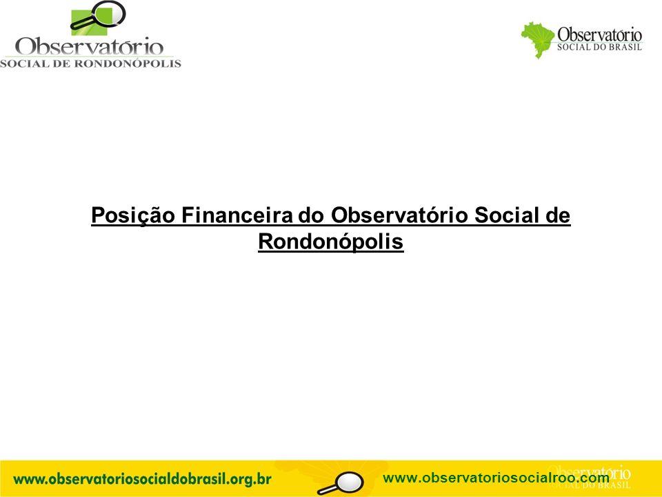 Logo do OS Posição Financeira do Observatório Social de Rondonópolis www.observatoriosocialroo.com