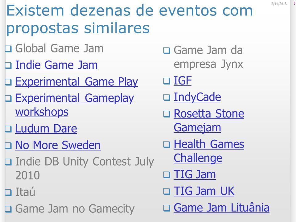 Global Game Jam Evento anual colaborativo voltado ao desenvolvime nto de jogos em geral (digitais ou não) promovido pela IGDA;