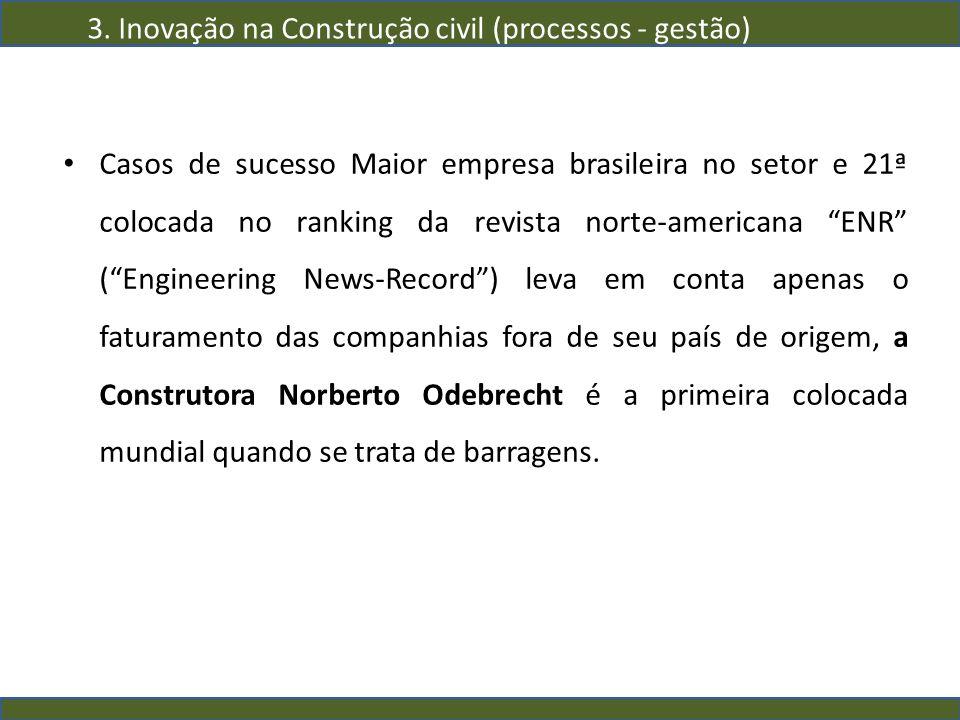 Casos de sucesso Maior empresa brasileira no setor e 21ª colocada no ranking da revista norte-americana ENR (Engineering News-Record) leva em conta ap