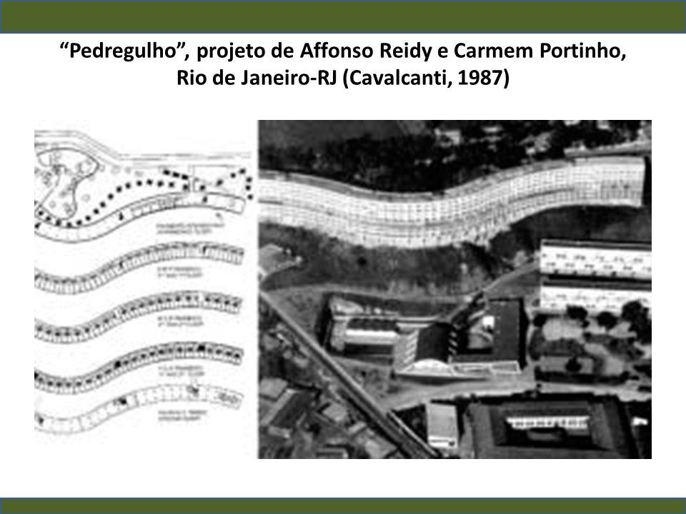 Pedregulho, projeto de Affonso Reidy e Carmem Portinho, Rio de Janeiro-RJ (Cavalcanti, 1987)