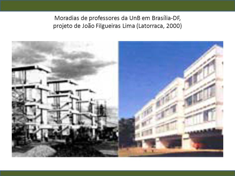 Moradias de professores da UnB em Brasília-DF, projeto de João Filgueiras Lima (Latorraca, 2000)