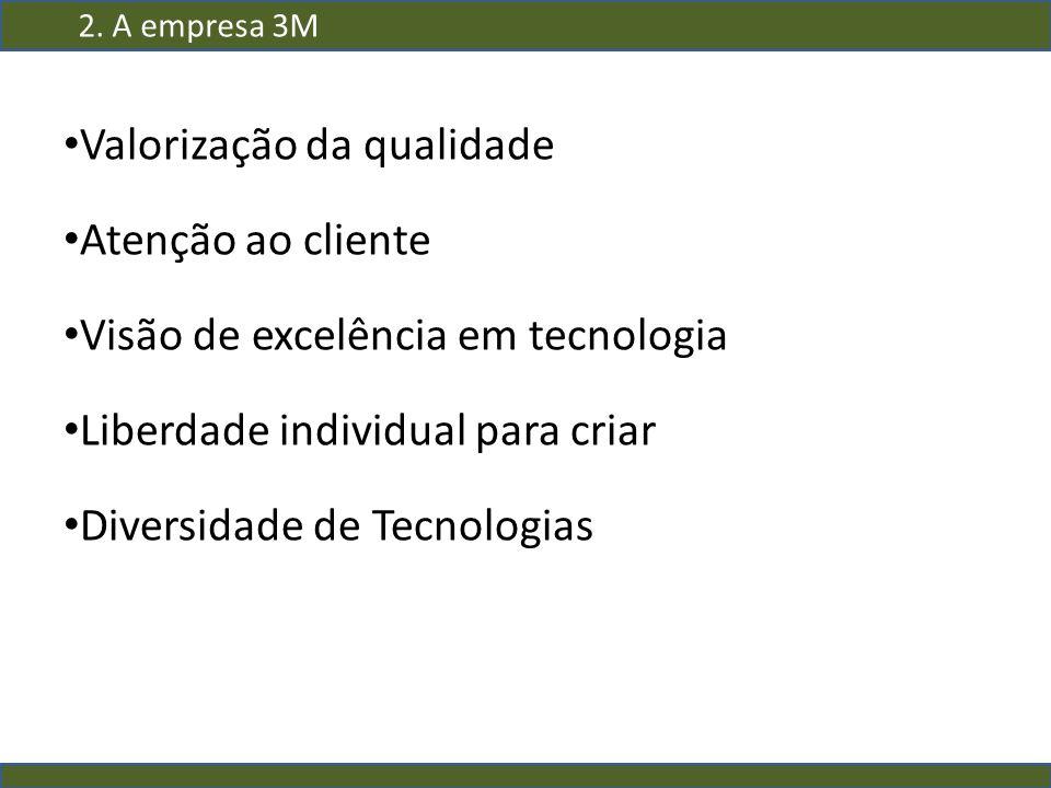 Valorização da qualidade Atenção ao cliente Visão de excelência em tecnologia Liberdade individual para criar Diversidade de Tecnologias 2. A empresa