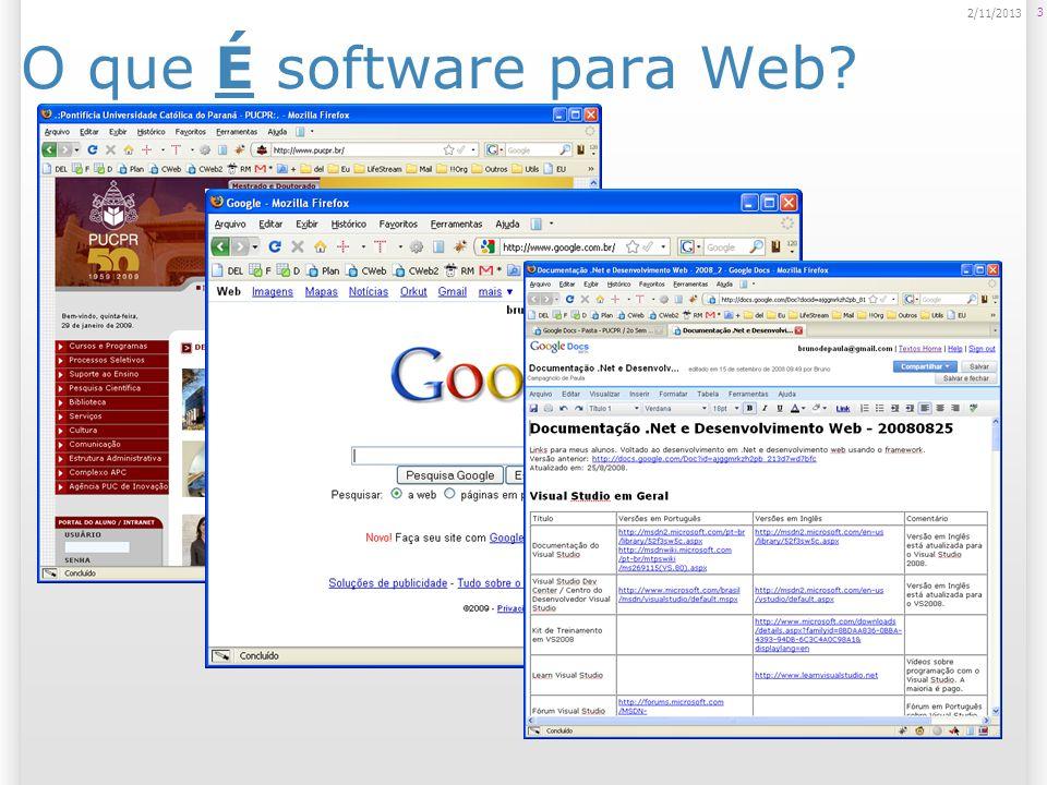 O que É software para Web? 3 2/11/2013
