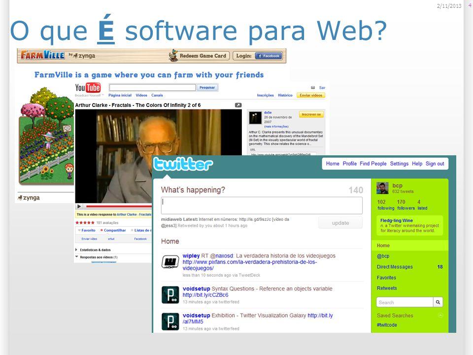 O que É software para Web? 4 2/11/2013