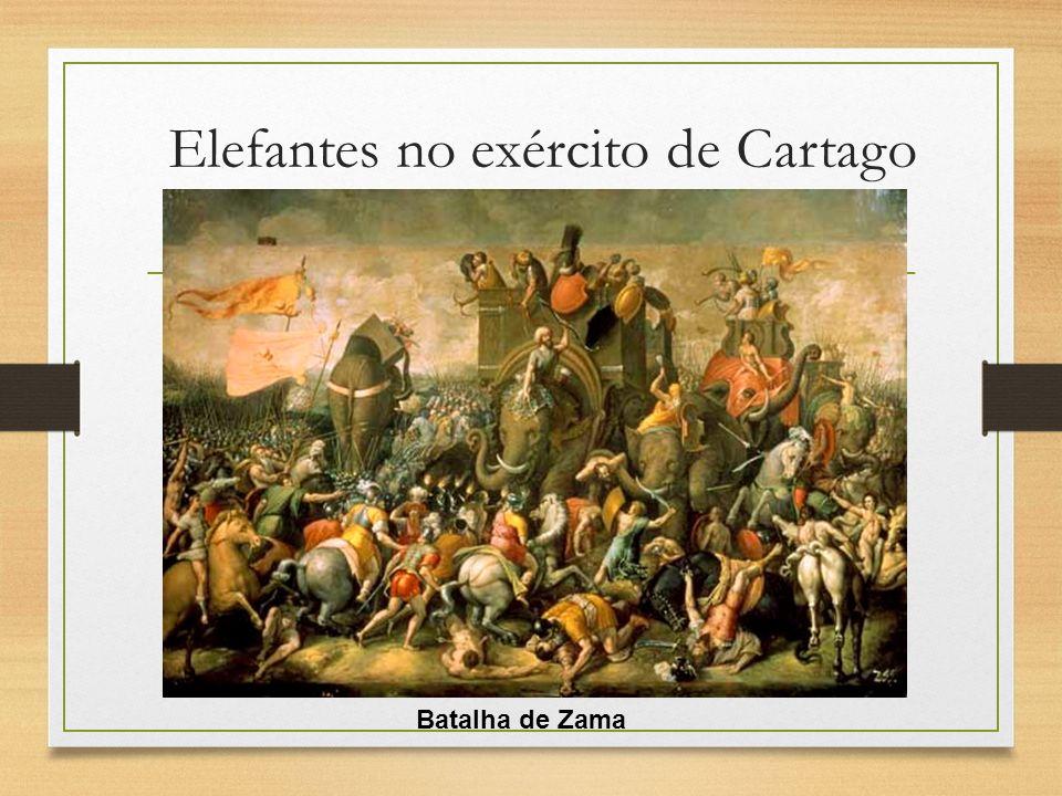 Elefantes no exército de Cartago Batalha de Zama
