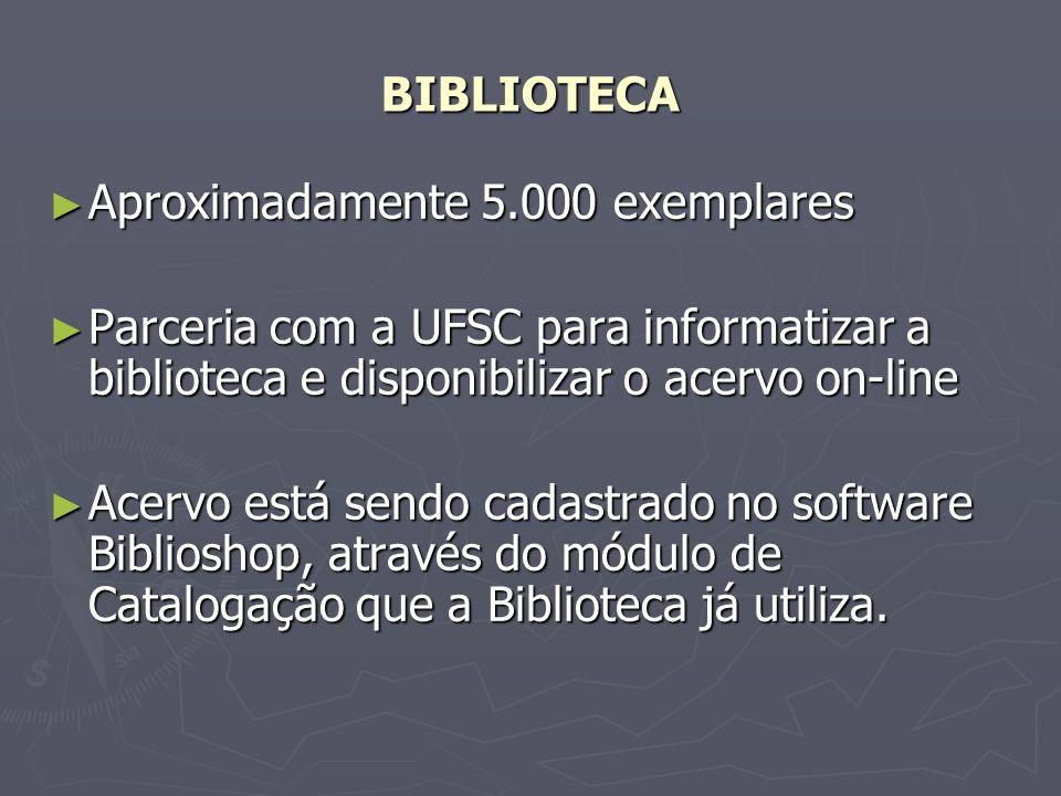 BIBLIOSHOP Gerenciador de bases de dados e sistema de empréstimos com interface web, sendo algumas bases de dados já desenvolvidas: Gerenciador de bases de dados e sistema de empréstimos com interface web, sendo algumas bases de dados já desenvolvidas: - MARC 21 (catalogação); - IBICT/ABNT (referenciação); - Kardex (controle de periódicos) e - Arquivo (gerenciamento eletrônico de documentos).