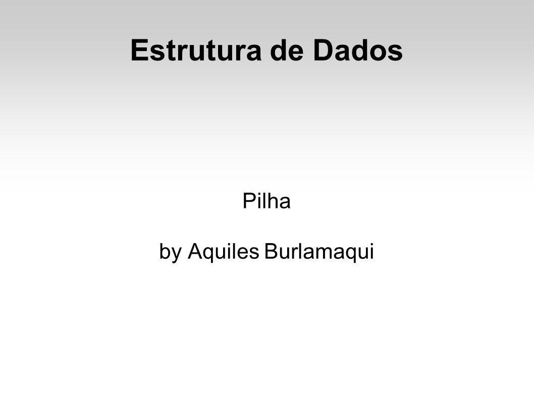 Estrutura de Dados Pilha by Aquiles Burlamaqui