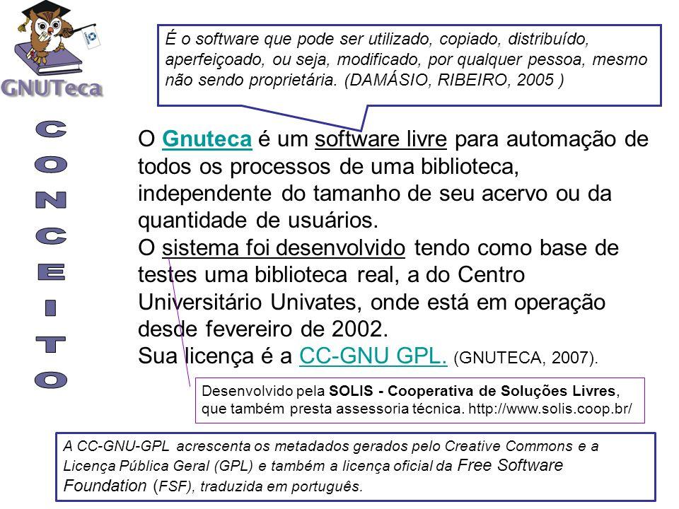 O Gnuteca é um software livre para automação de todos os processos de uma biblioteca, independente do tamanho de seu acervo ou da quantidade de usuári