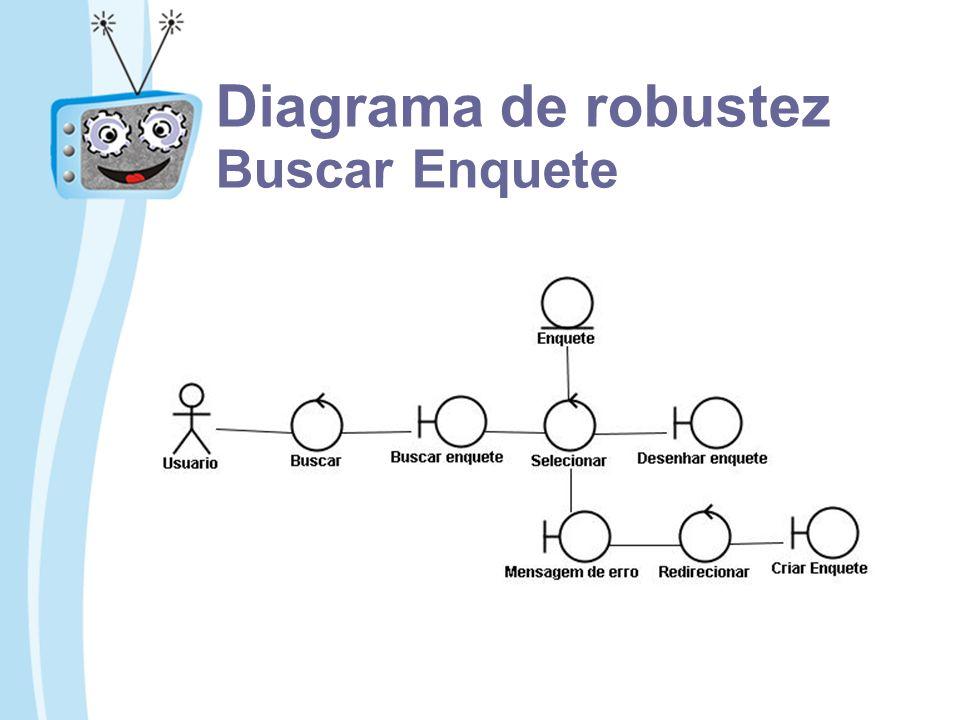 Diagrama de robustez Buscar Enquete