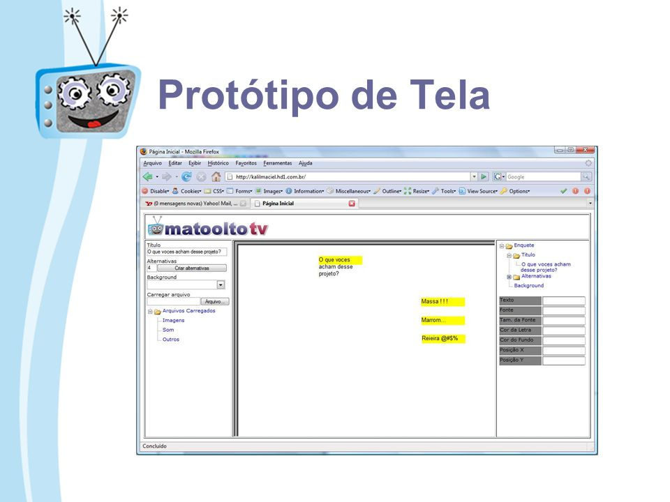 Protótipo de Tela