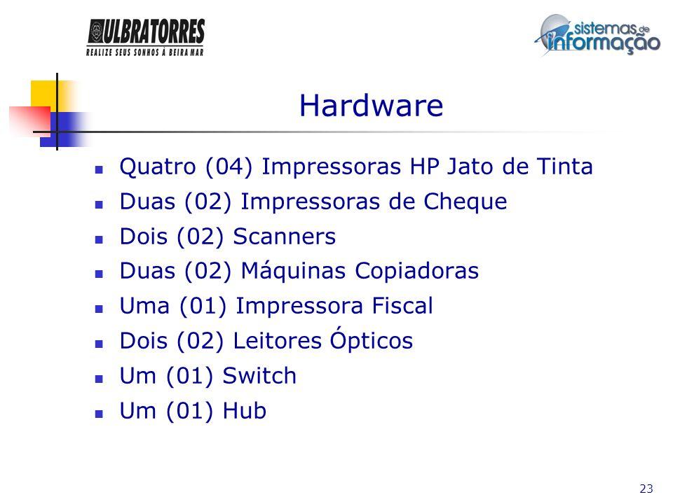 24 Software Dezessete (17) MS Windows XP Dois (02) MS Windows 98 Um (01) MS Windows Profissional 2000 Server Dezenove (19) MS Office Dois (02) Auto Cad Um (01) Adobe PhotoShop 7.0 Um (01) Corel Draw 10 Vinte (20) Antivírus Norton