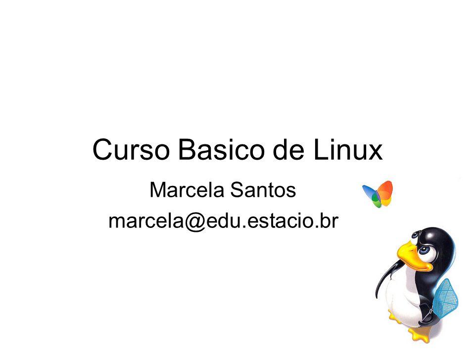 Curso Basico de Linux Marcela Santos marcela@edu.estacio.br