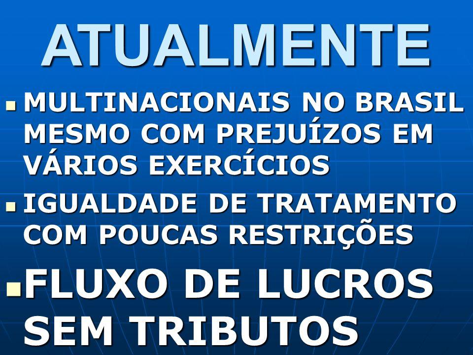 ATUALMENTE MULTINACIONAIS NO BRASIL MESMO COM PREJUÍZOS EM VÁRIOS EXERCÍCIOS MULTINACIONAIS NO BRASIL MESMO COM PREJUÍZOS EM VÁRIOS EXERCÍCIOS IGUALDA