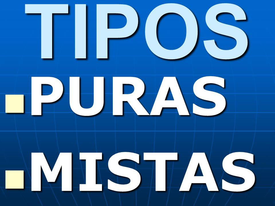 TIPOS PURAS PURAS MISTAS MISTAS