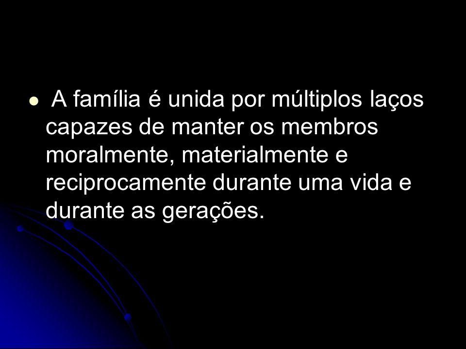 A família é mais do que o resultante genético.