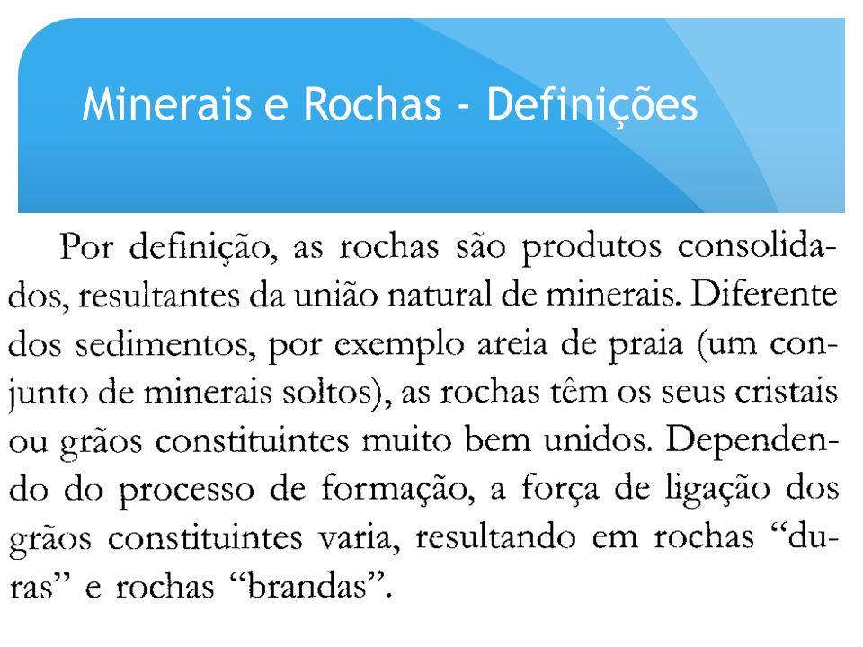 Minerais e Rochas - Definições