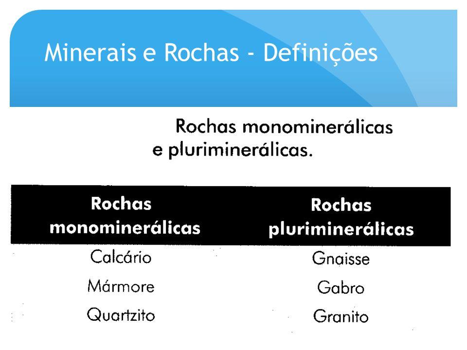 O termo rocha e usado para descrever uma associação de minerais que, por diferentes motivos geológicos, acabam ficando intimamente unidos.