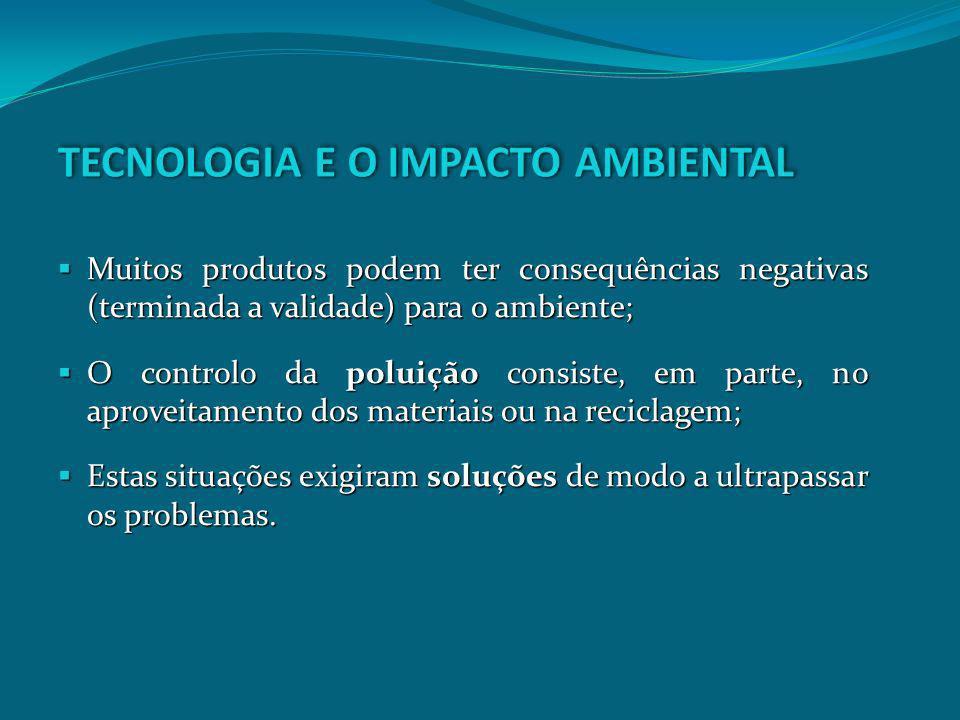 Muitos produtos podem ter consequências negativas (terminada a validade) para o ambiente; Muitos produtos podem ter consequências negativas (terminada