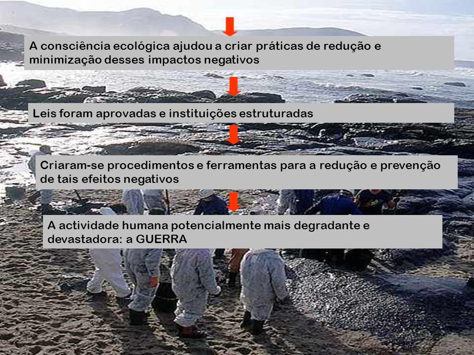 A consciência ecológica ajudou a criar práticas de redução e minimização desses impactos negativos Leis foram aprovadas e instituições estruturadas Cr