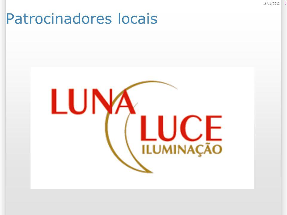 Patrocinadores locais 8 16/11/2013