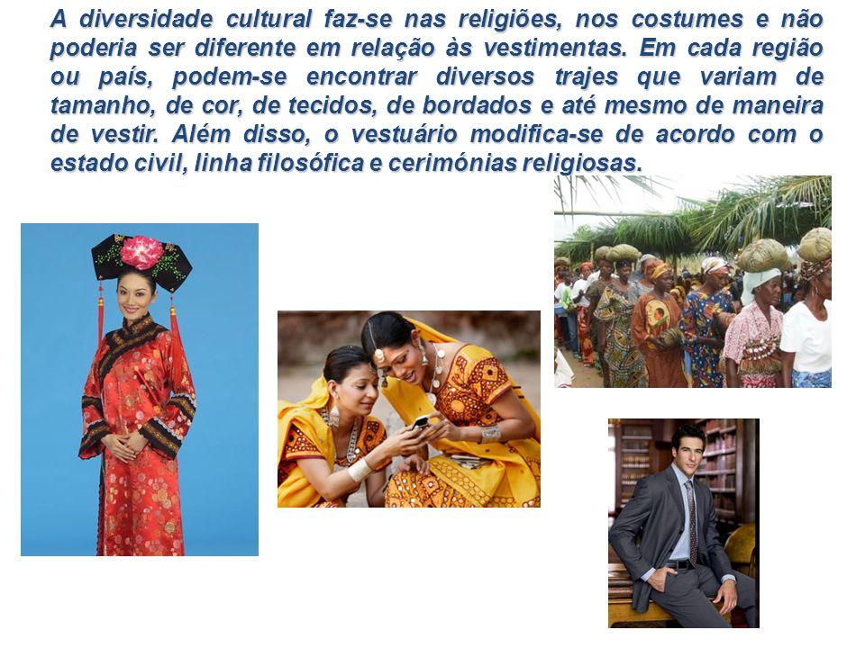 A diversidade cultural faz-se nas religiões, nos costumes e não poderia ser diferente em relação às vestimentas. Em cada região ou país, podem-se enco