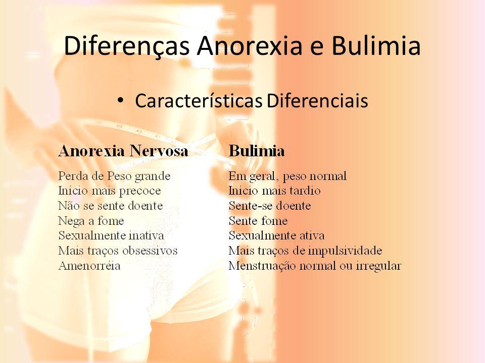 Diferenças Anorexia e Bulimia Características Diferenciais