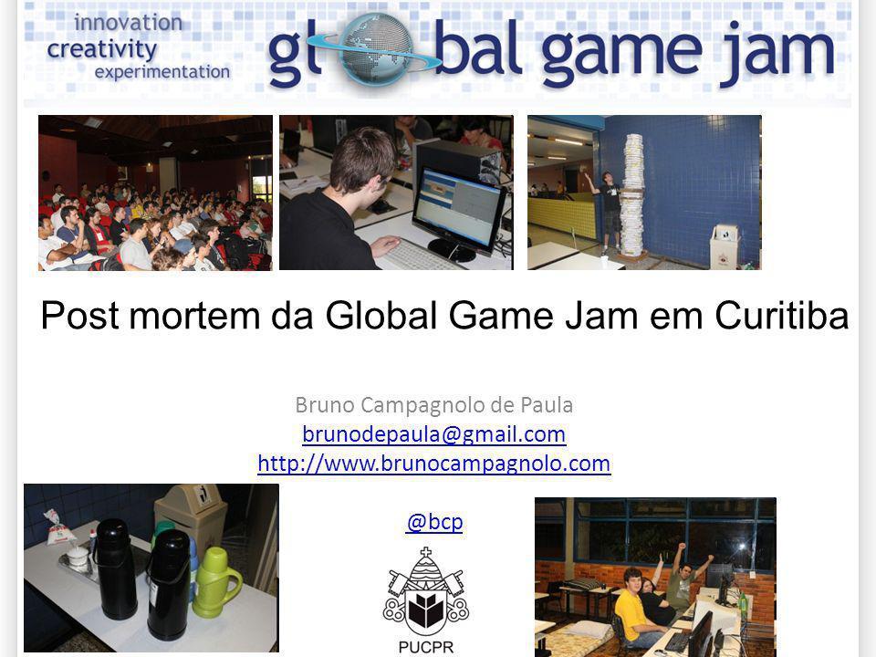 Bruno Campagnolo de Paula brunodepaula@gmail.com http://www.brunocampagnolo.com @bcp Post mortem da Global Game Jam em Curitiba