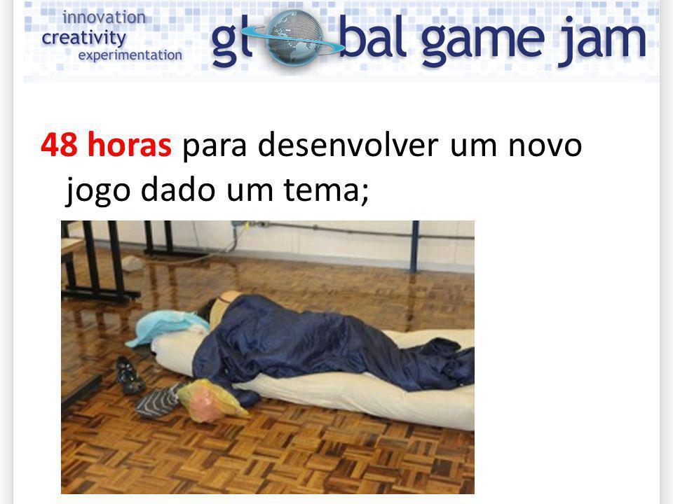 Global Game Jam 48 horas para desenvolver um novo jogo dado um tema;