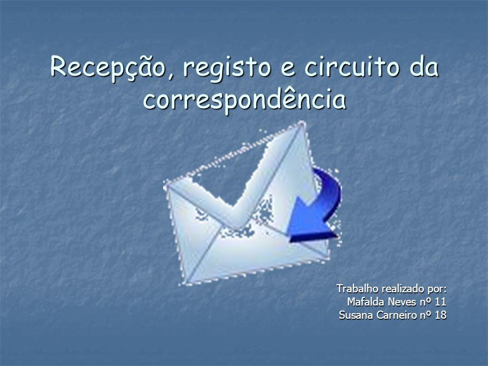 Registo de Saída Como já foi dito relativamente à entrada de correspondência, o registo das saídas também é normalmente feito em livro próprio.