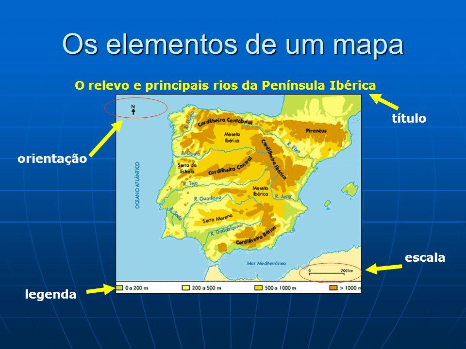 O RELEVO DA PENÍNSULA IBÉRICA Montanhas: Pirenéus; Montes Cantábricos, Montes Ibéricos, Cordilheira Central ; Cordilheira Bética; Planaltos: grandes extensões de terreno plano a grande ou média altitude; o principal é o Planalto Central Planícies: as principais situam-se na costa e nos vales dos grandes rios: Tejo, Douro, Guadiana, Guadalquivir, Júcar e Ebro.