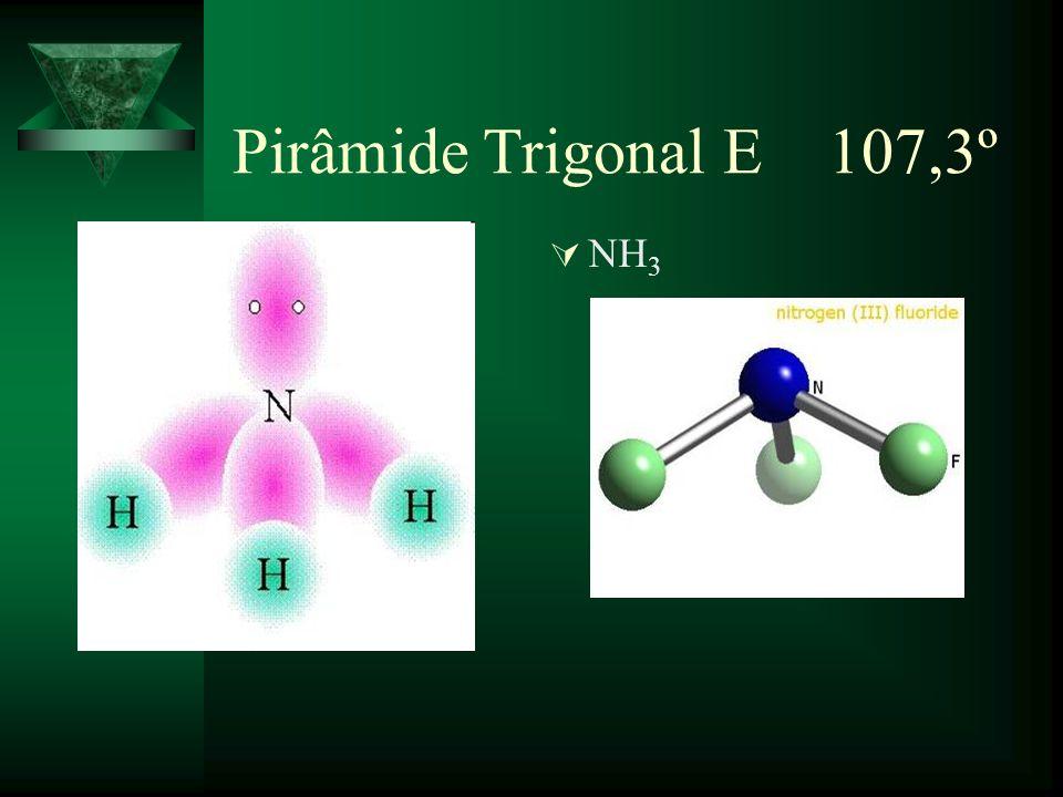 Tetraédrica F (CH 4 ) 109,5º