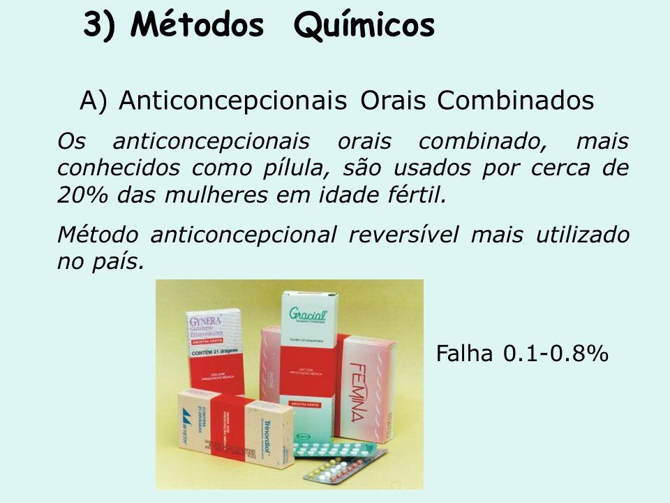 A) Anticoncepcionais Orais Combinados Os anticoncepcionais orais combinado, mais conhecidos como pílula, são usados por cerca de 20% das mulheres em i