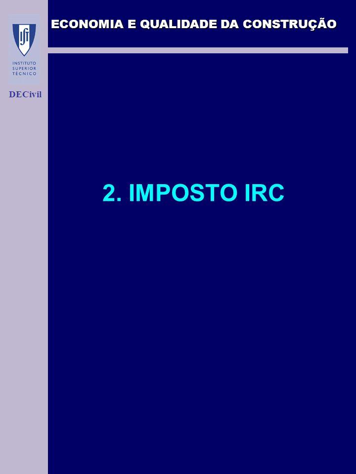 ECONOMIA E QUALIDADE DA CONSTRUÇÃO DECivil 2. IMPOSTO IRC