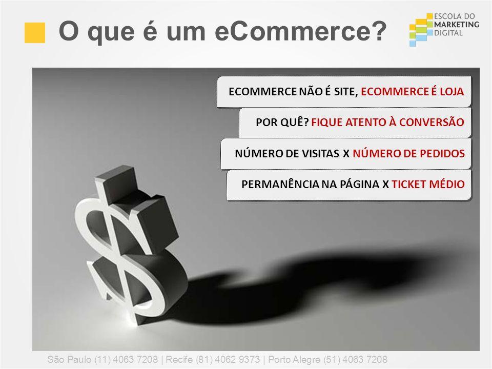 O que é um eCommerce? São Paulo (11) 4063 7208 | Recife (81) 4062 9373 | Porto Alegre (51) 4063 7208 ECOMMERCE NÃO É SITE, ECOMMERCE É LOJA POR QUÊ? F
